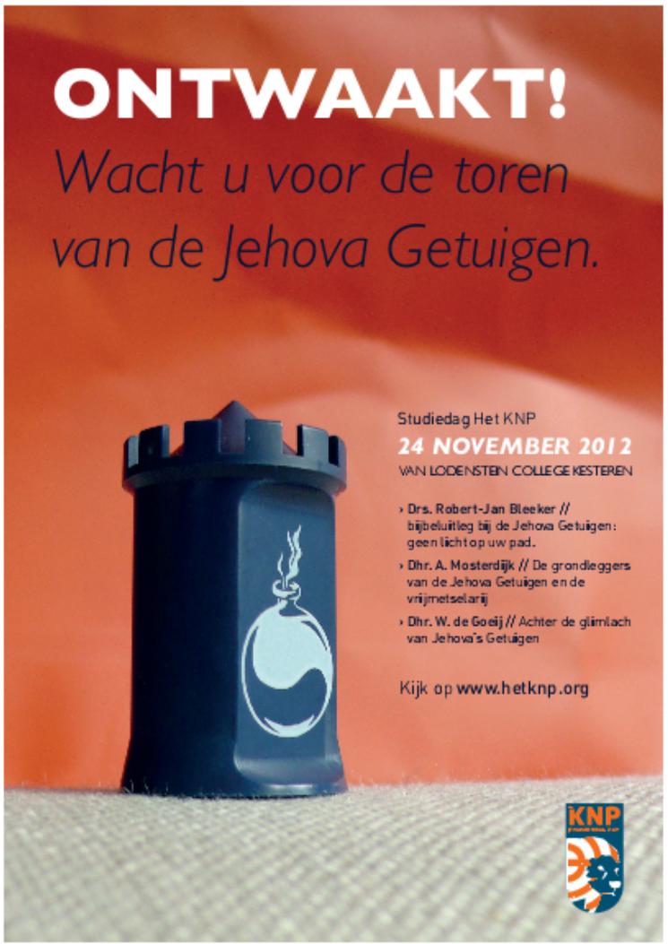Het KNP Studiedag 2012. Thema: Jehova Getuigen